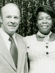 "Johnny Huntsman and Henrietta ""Miss Henry"" Smith. Smith worked at the first location of Johnny's Pizza House for many years and was a well-known employee."
