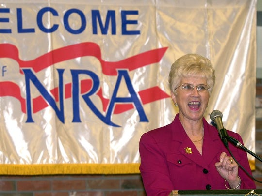 Gov. Judy Martz speaks during a National Rifle Association banquet at the Heritage Inn in Great Falls Saturday, May 11, 2002.