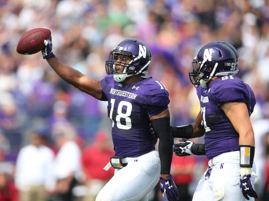 Northwestern linebacker Anthony Walker was an All-Big