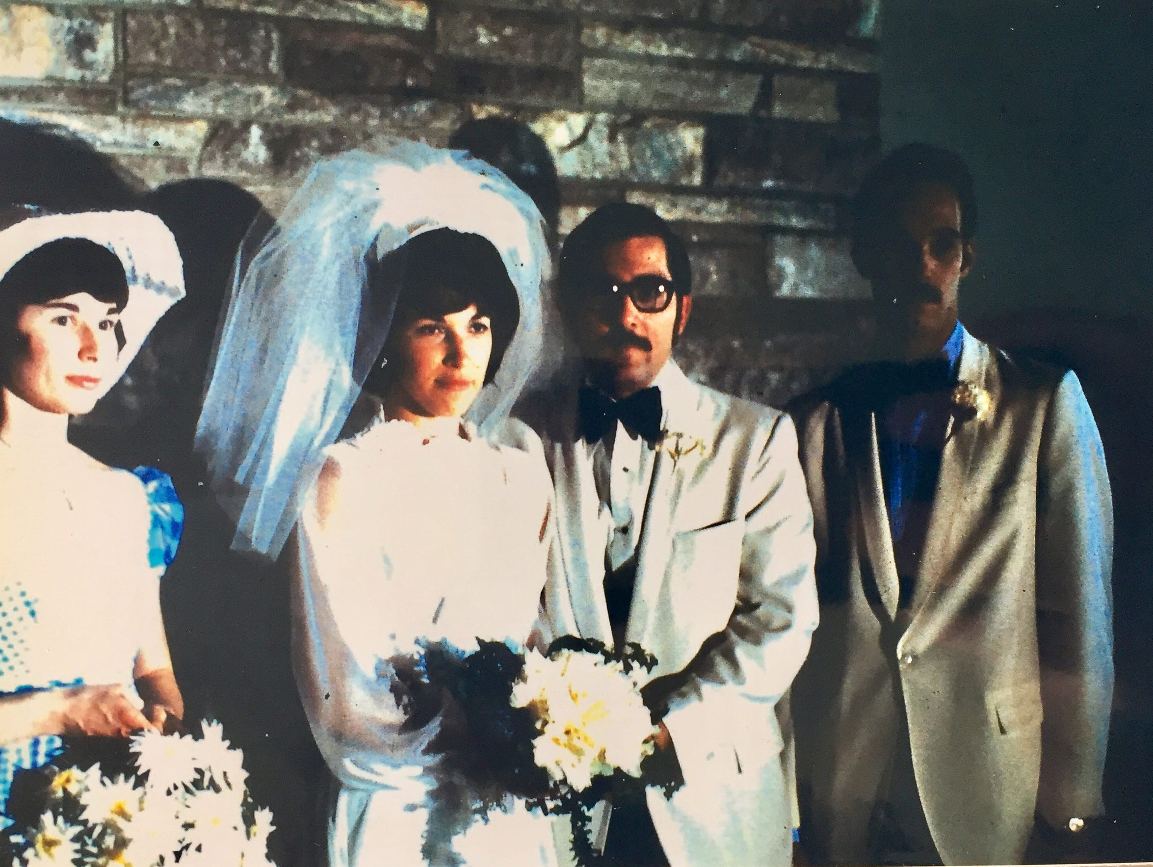 David and Pat Heese on their wedding day in 1972.