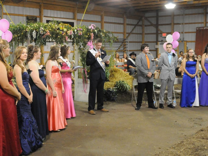 Junior fair king and queen competition at the Sandusky County Fair on Tuesday, Aug 19, 2014.