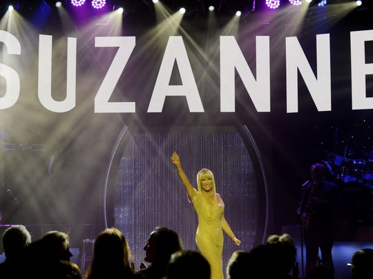 "Suzanne Somers starring in ""Suzanne Sizzles,"" a multi-media"