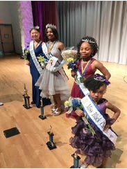 Pictured from the left are Miss Black Clarksville 2018