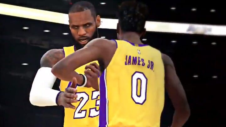 'NBA 2K' mixtape imagines LeBron, Bronny on Lakers