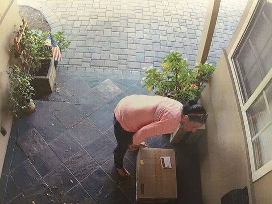 This suspect was arrested by Salinas police shortly after these home surveillance photos were posted on social media