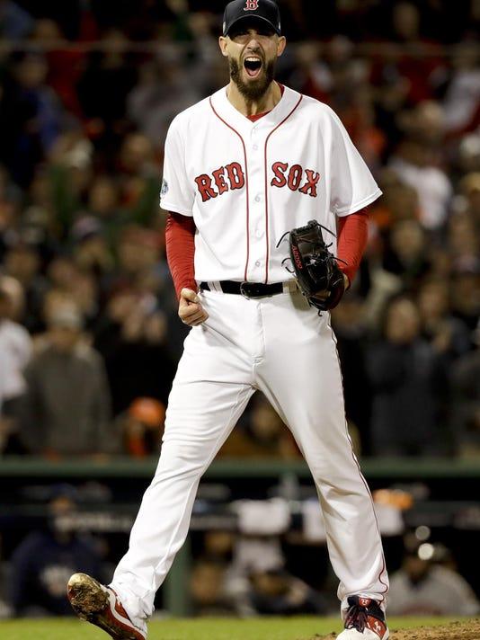 APTOPIX ALCS Astros Red Sox Baseball