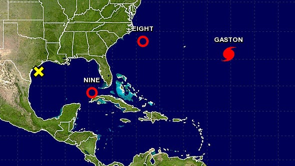 A look at all the tropical disturbances and storms impacting the Atlantic and Gulf coasts.