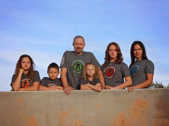 All six members of the Walker family will compete in the Spartan race Saturday.