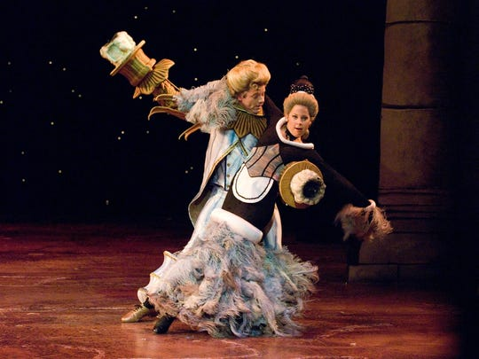 "Billy Sharpe and Alex Ellis perform in ASF's 2006 production of ""Disney's Beauty and the Beast."""