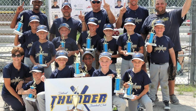 The Detroit Thunder Baseball Club finished 4-0 in the Late Season Slam Aug. 5 at Walled Lake Northern H.S.