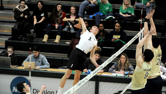 As a freshman, Landon Shorts leads Stevenson volleyball this season with 324 kills.