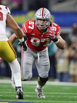 Nick Bosa plans to pick up where he left off, after getting two of Ohio State's eight sacks in a 24-7 win over USC in the 2017 Cotton Bowl.