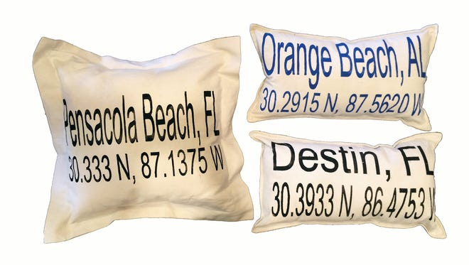 Pillows, $28 to $38, The Linen Corner.