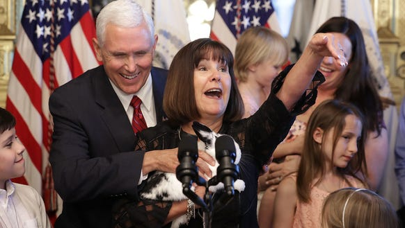 Vice President Mike Pence and his wife Karen Pence