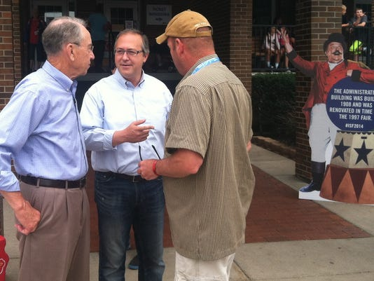 David Young and Grassley, Iowa State Fair, Aug. 2014