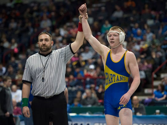 Maine-Endwell graduate Kobe Garrehy is the last Section 4 wrestler to win a state championship.
