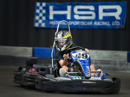 Racing at LeMans Karting in Greenville is a great team-building