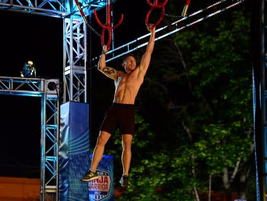 "Venn Johns competing on ""American Ninja Warrior"""