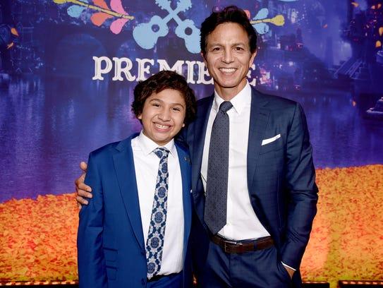 Co-stars Anthony Gonzalez (left) and Benjamin Bratt