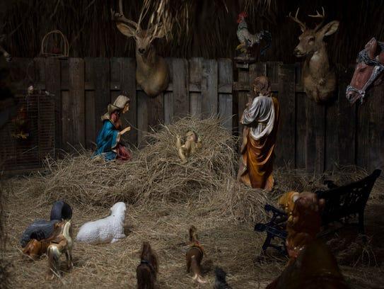 The Castro's Interiors Nativity scene was open on Friday,