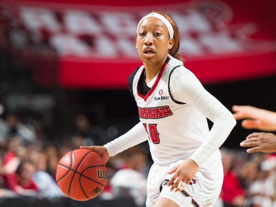 UL's Troi Swain was back full strength for the Cajuns in Sunday's win after missing time with a sprained ankle.