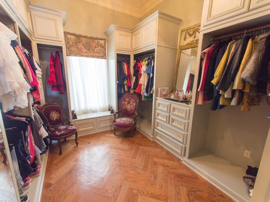 The master closet could also be used as a small bedroom.