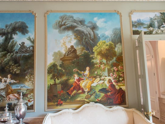 Much of the artwork was insired by the owners' travels