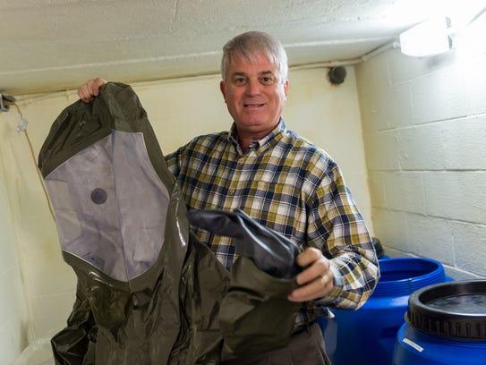 Chris Edwards provides tour of bomb/fallout shelters