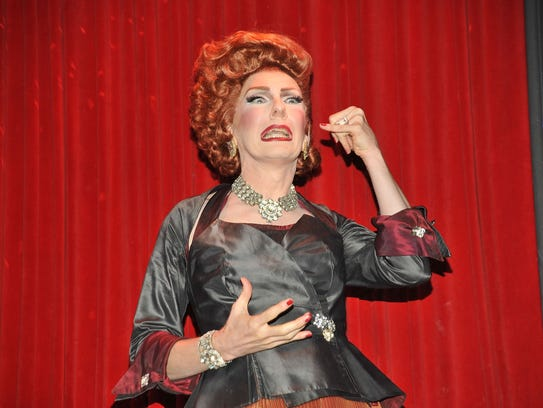 Entertainer Lypsinka appears at a live window revue
