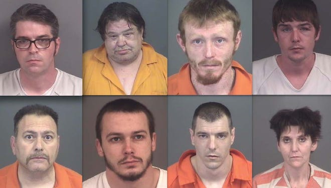 Top row, from left: Scott Riggs, Daniel Ronowski, Christopher Stead and William Baisch. Bottom row: Antonino Poma, Christian Slotnick, James Hollbrook and Stephanie Kellenberger.
