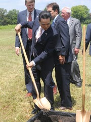 A groundbreaking ceremony was held Wednesday, July 15, 2015, in Murfreesboro's Gateway for the North American headquarters of auto supplier M-Tek. Destination Rutherford helped attract more than 12,000 new jobs from companies like M-Tek and Schwan Cosmetics, to the county in the last five years.