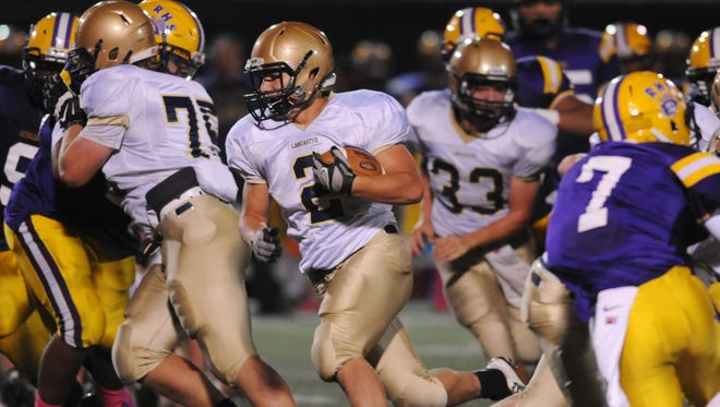 Lancaster sophomore Shea Goss rushed for a career-high 273 yards and two touchdowns in the Golden Gales' 49-42 triple overtime loss at Reynoldsburg in Week 8. Lancaster travels to Grove City on Friday.