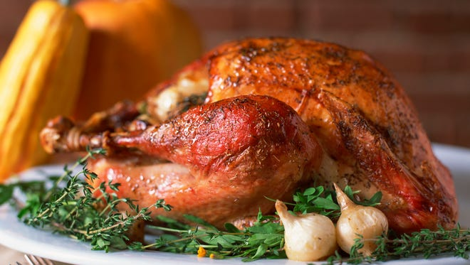 Swap dark meat turkey with skin for skinless turkey breast meat to save calories.