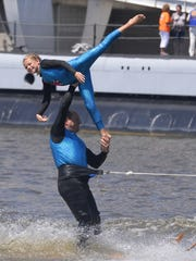 Waterboard Warriors performed at Manitowoc's first Subfest in 2015. The nonprofit competitive ski show team performs during the summer throughout northeastern Wisconsin, showing audiences skills such as high-speed barefoot water skiing, jumping and pyramids.