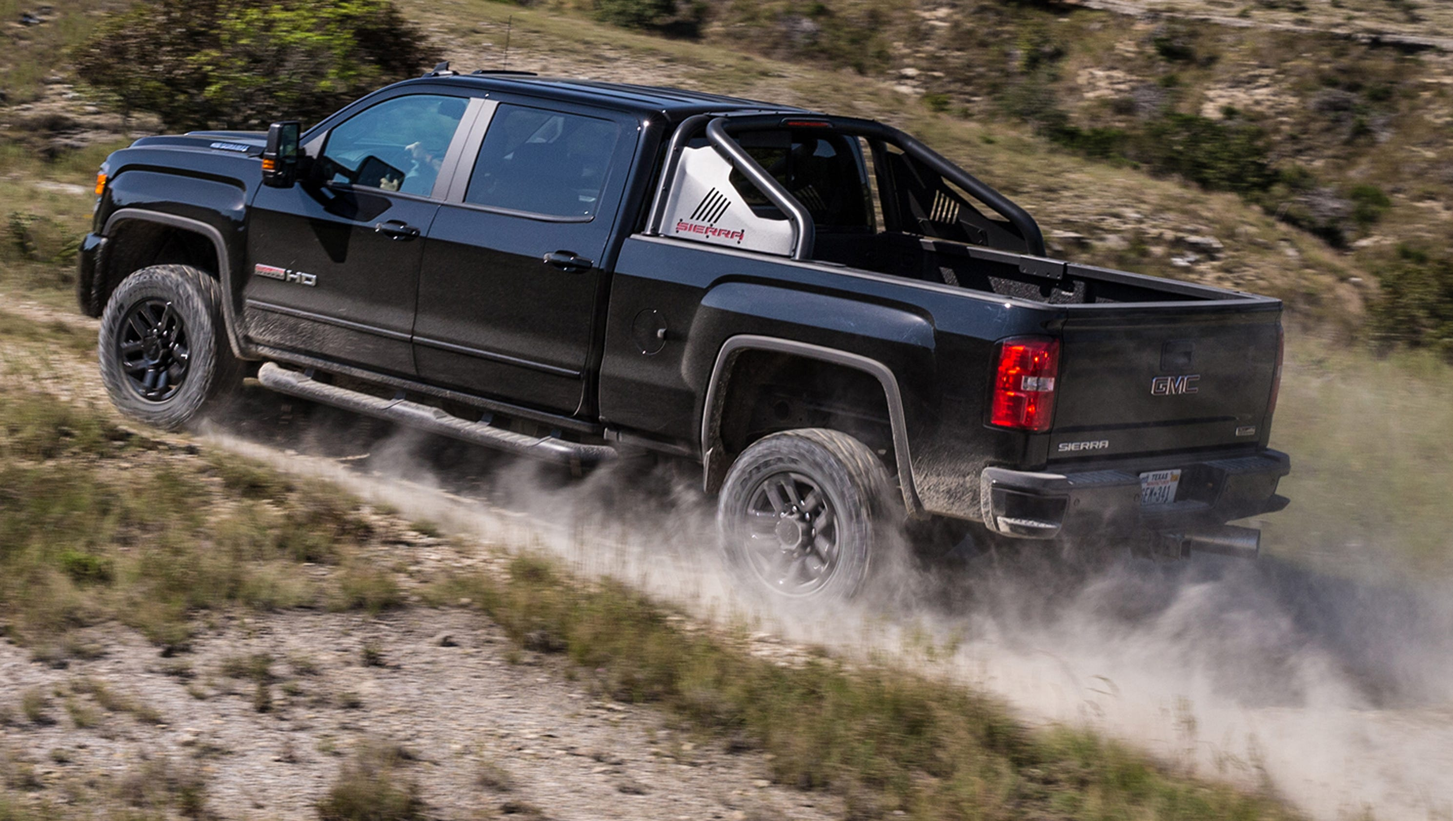 gmc shows all terrain x version of sierra heavy duty pickup. Black Bedroom Furniture Sets. Home Design Ideas