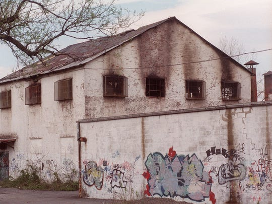 The former Empire State Chair Factory building after a fire in April 1999.