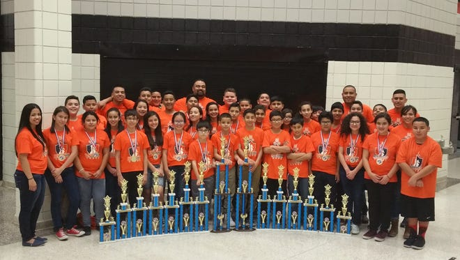The Henderson Middle School Chess Club brought home 15 trophies, including earning two first places as a team, at the Texas Scholastic Chess Championship in Brownsville.