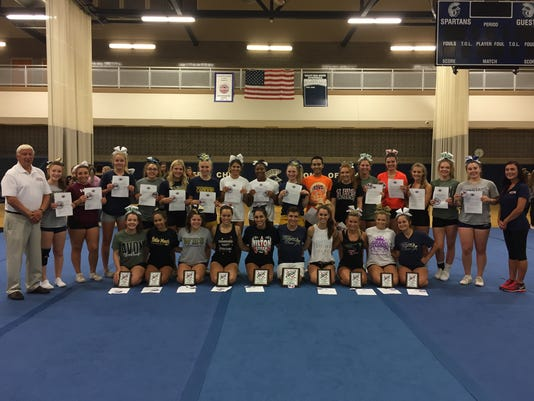 2018 Eddie Meath All-Star cheerleaders