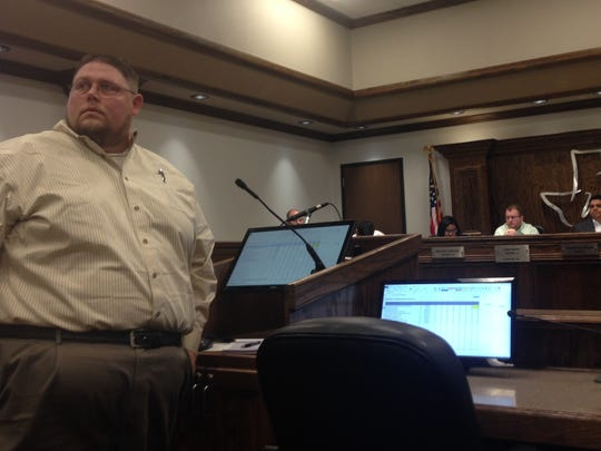 In this file photo, Tom Lang, non-voting Lake Wichita Revitalization Committee member talks about the lake during a special council session. The lake has three projects included on the bond under Proposition B for nearly $4 million, which failed to pass.