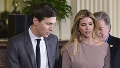 Ivanka Trump with her husband, White House adviser