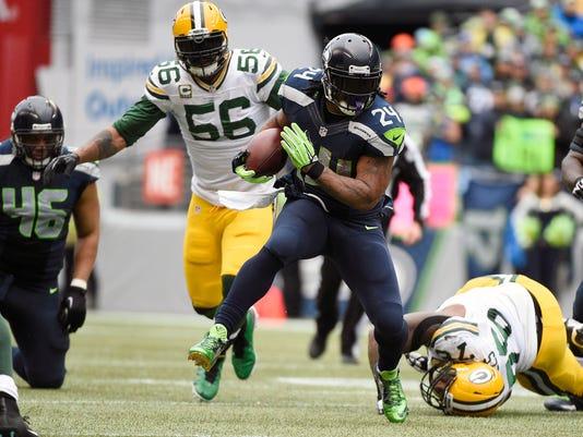 Seattle Seahawks running back Marshawn Lynch