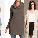 Whether you opt for a cardigan or a cape when it comes to members of the sweater family, this season is all about chunky knits. So, hereâ??s a look at what'??s available in stores and online.