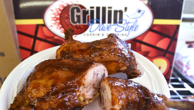 Chicken leg quarters at Grillin' Dave Style are the newest item on the restaurant's menu.