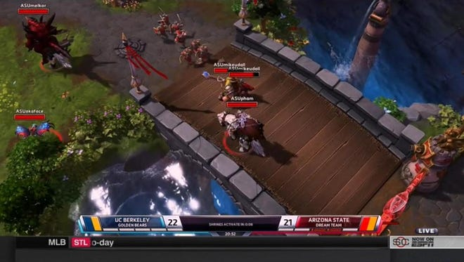 ASU took on Cal in the Heroes of the Dorm championships.