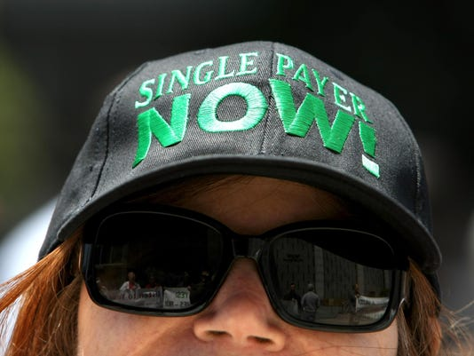 Health Care Activists Demonstrate In Favor Of Single Payer Care Legislation