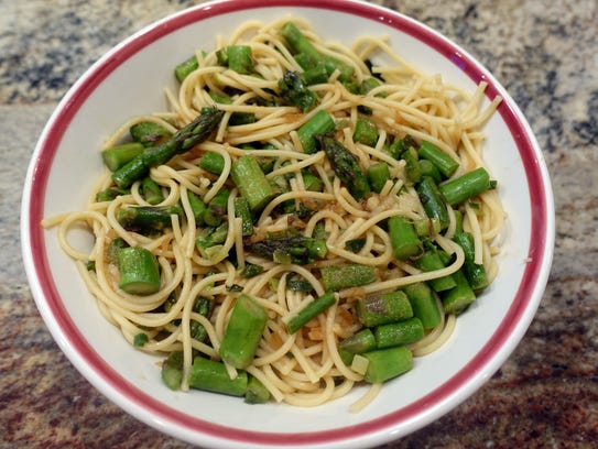 Indonesian Asparagus and Pasta makes use of early-season