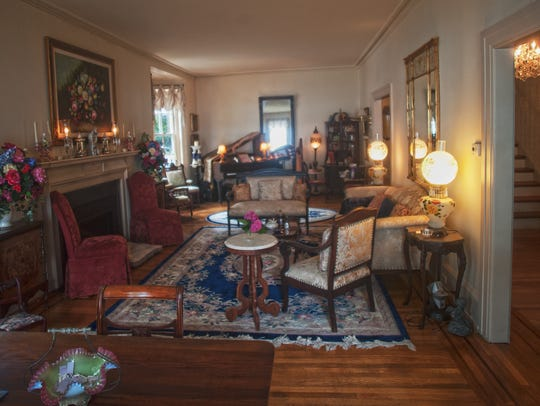 Formal parlor of the historic Caleb Clothier House