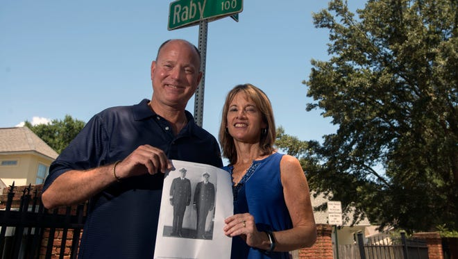 Bill and Rose Ann Janis recently moved to Raby Lane, and researched the name and found it is named for Admiral John Raby and his father Adm James Raby. James Raby was the commander of NAS a half century ago.