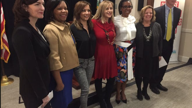 From left, Caroline Young, Dr. Consuelo H. Wilkins, Martina McBride, Mayor Megan Barry, British Robinson, Karen Springer and Dr. William S. Paul.