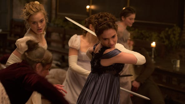 Bella Heathcote, left, and Lily James are two of the